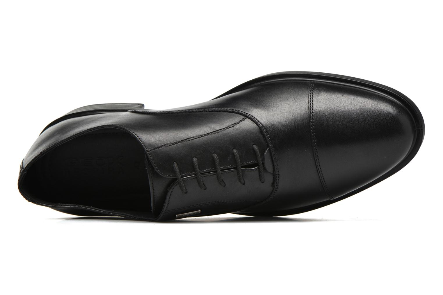 Lace-up shoes Geox U LORIS A ABX B U64C6B Black view from the left