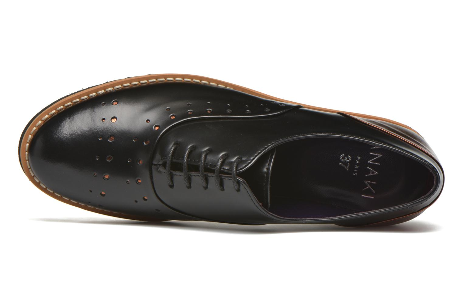Lace-up shoes Anaki Marguerite Black view from the left