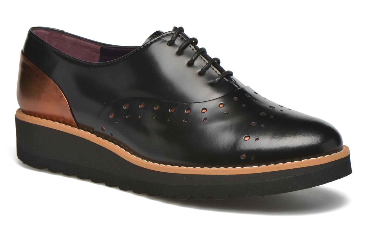 Lace-up shoes Anaki Marguerite Black detailed view/ Pair view