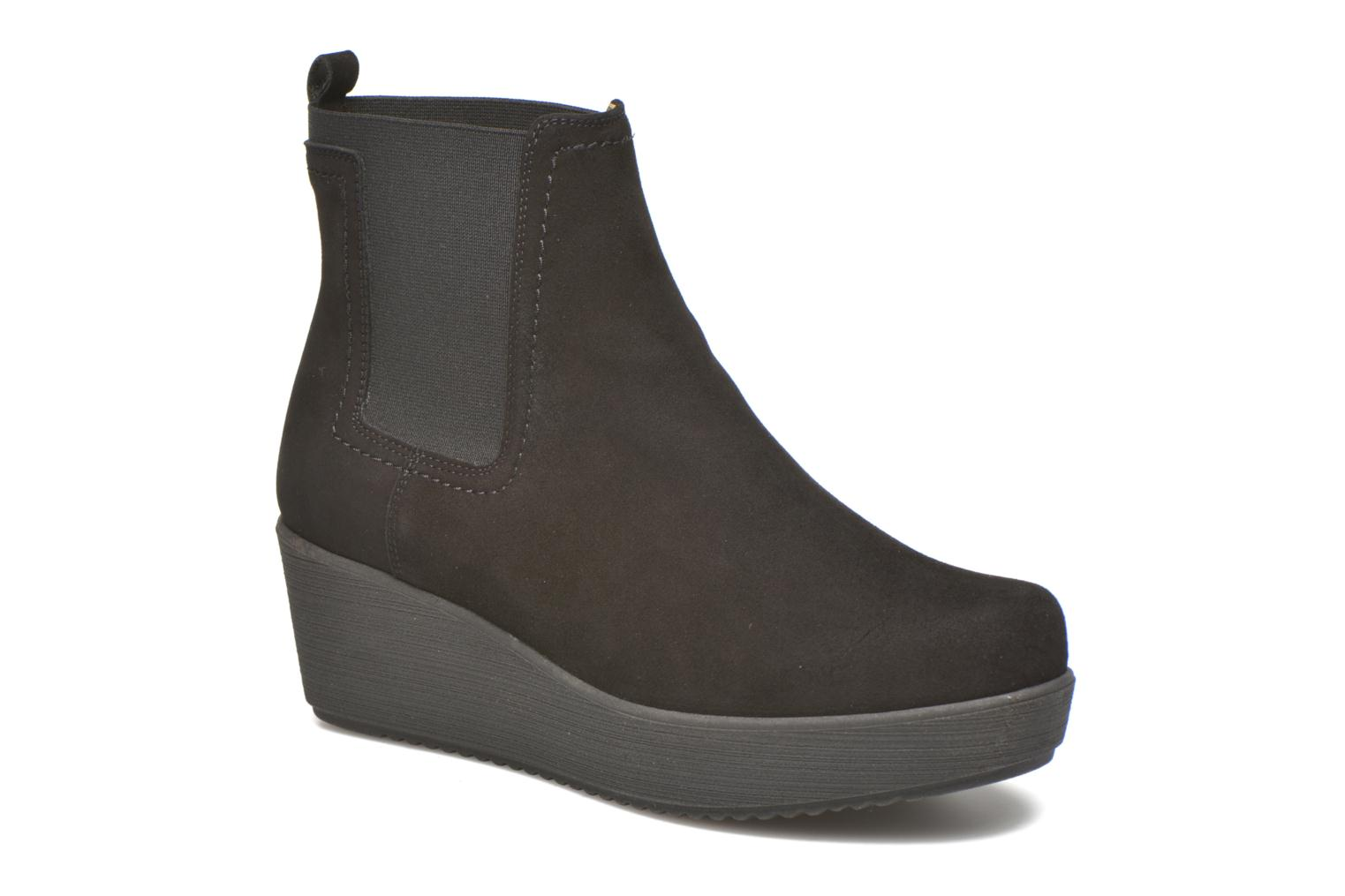 Ankle boots Unisa Fara Black detailed view/ Pair view