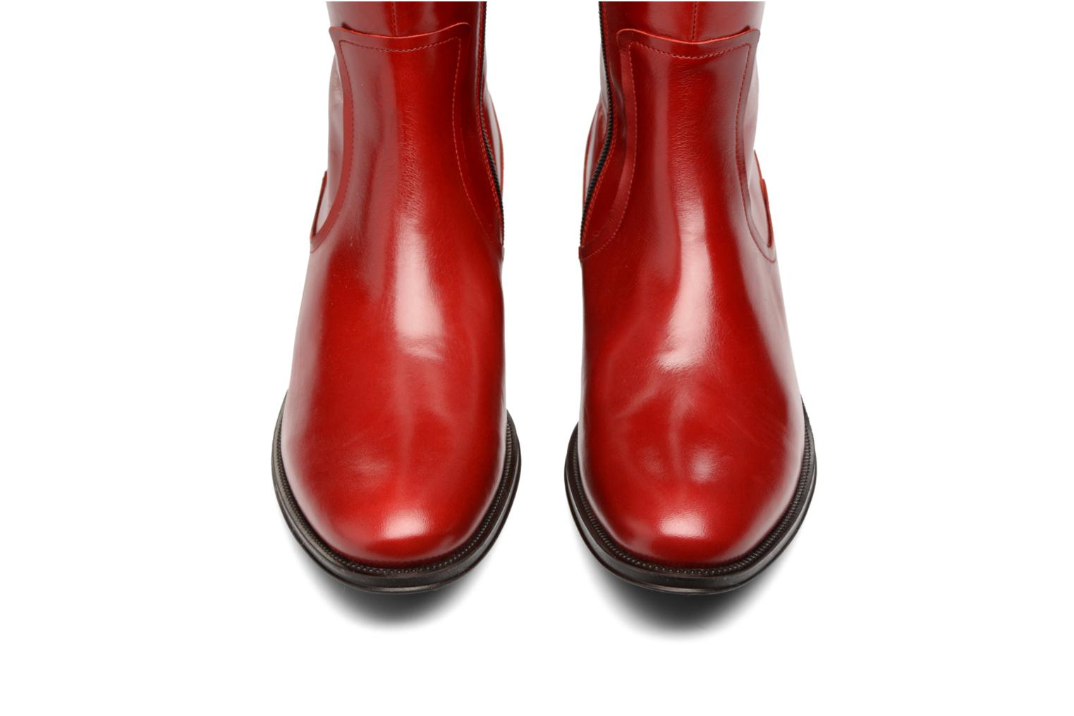 Bottes Made by SARENZA Boots Camp #15 Rouge vue portées chaussures