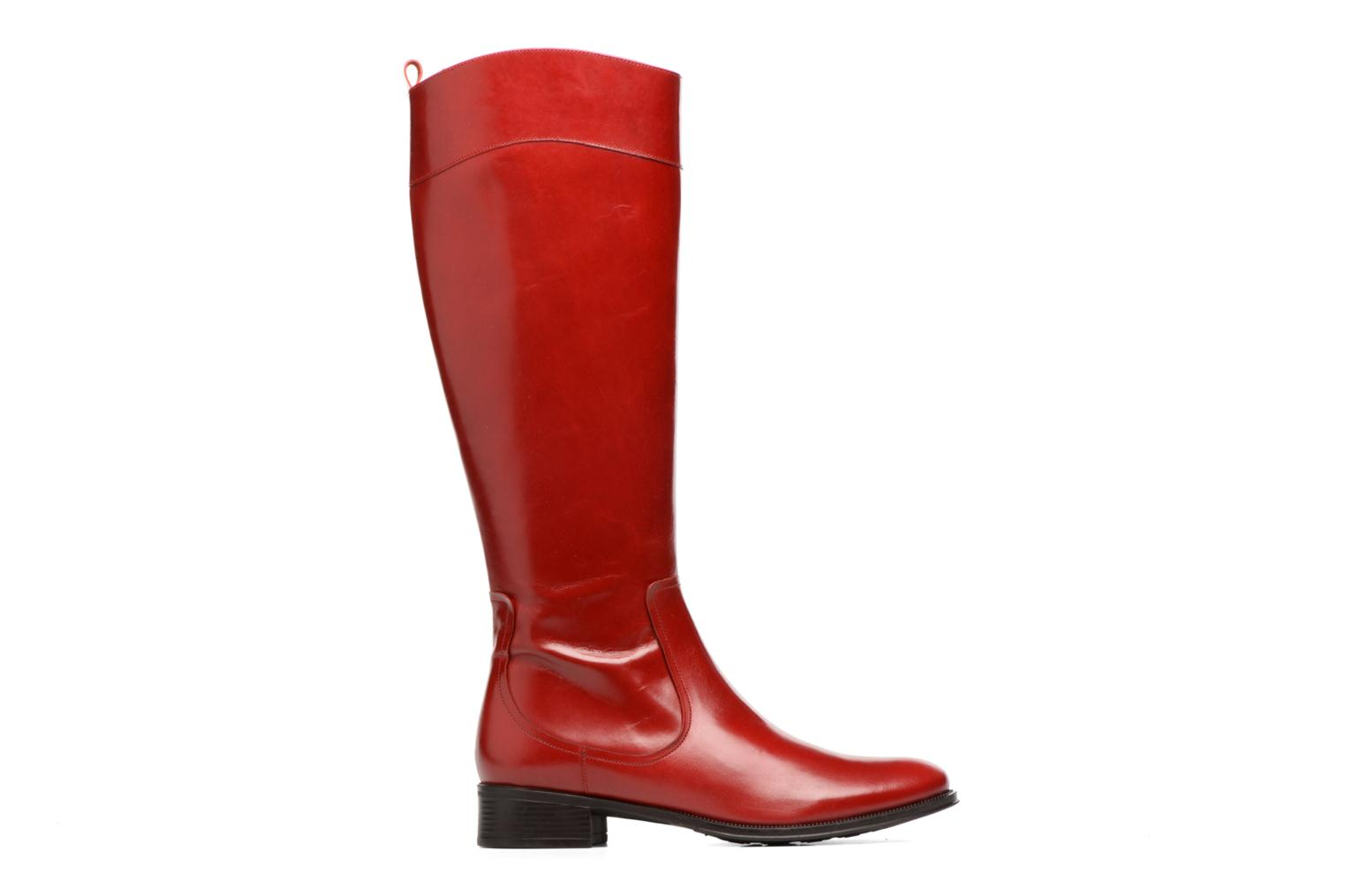 Boots Camp #15 cuir lisse rouge
