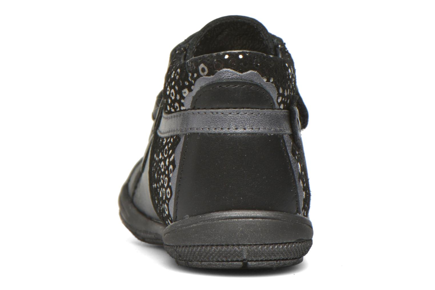 Velcro shoes Bopy Bijovel Black view from the right
