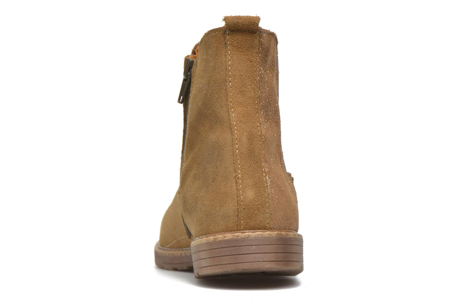Ankle boots Bopy Selfy Beige view from the right