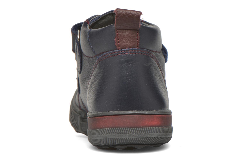 Zapatos con velcro Bopy Vayon Azul vista lateral derecha