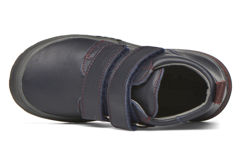 Zapatos con velcro Bopy Vayon Azul vista lateral izquierda