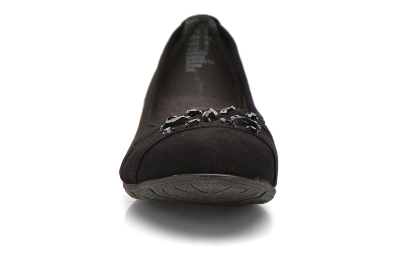 Ballerines Jana shoes Ammi Noir vue portées chaussures
