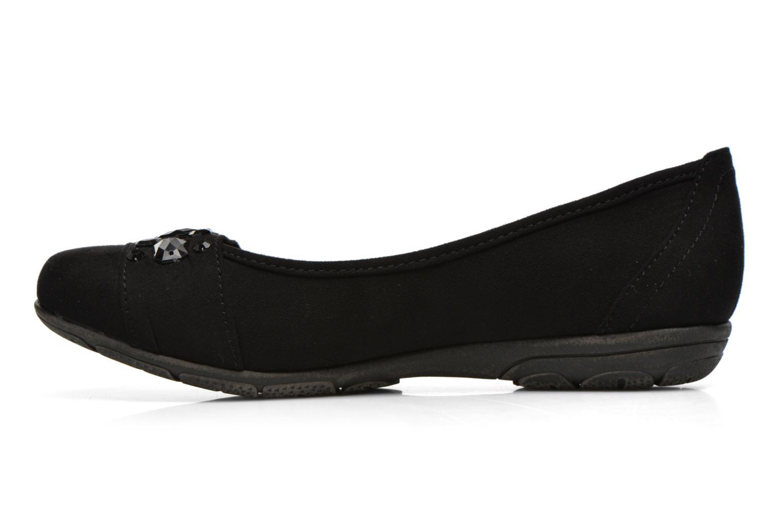 Ballerines Jana shoes Ammi Noir vue face