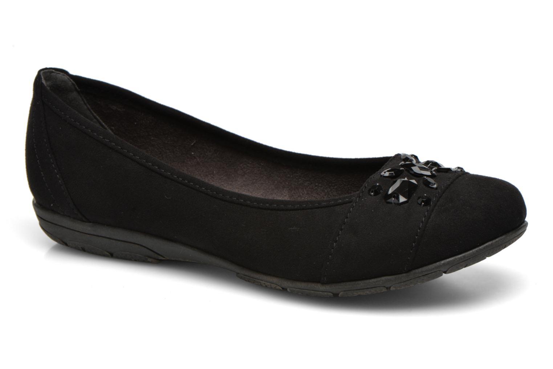 Ballerines Jana shoes Ammi Noir vue détail/paire