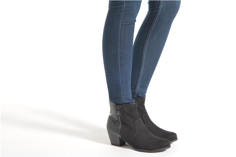 Bottines et boots Jana shoes Scille Gris vue bas / vue portée sac