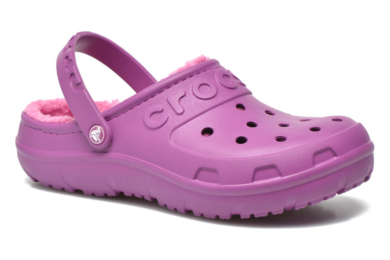 Mules et sabots Crocs Crocs Hilo Lined Clog K Violet vue détail/paire