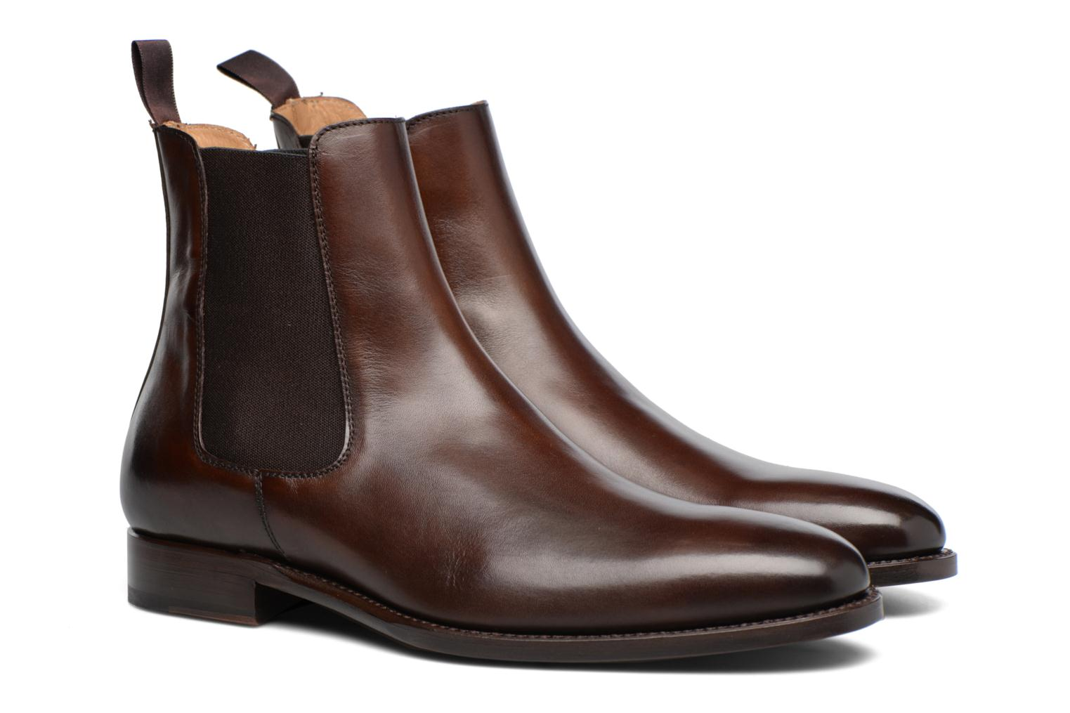 Bottines et boots Marvin&Co Luxe WASPEN - Cousu Goodyear Marron vue 3/4