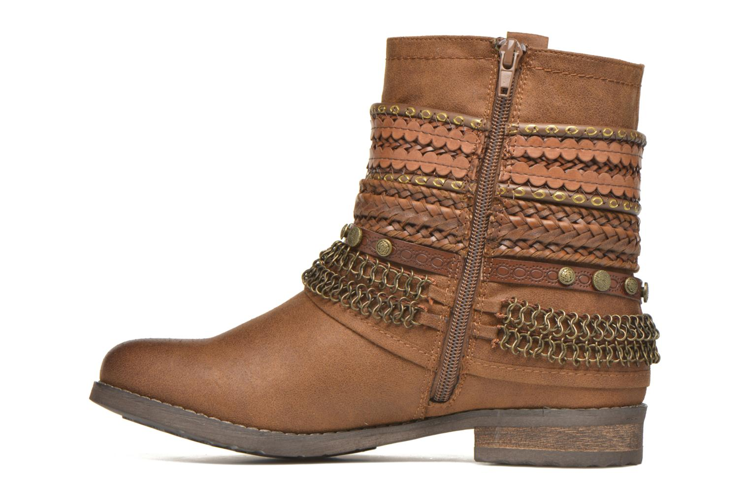 Bottines et boots Bullboxer Lalima Marron vue face