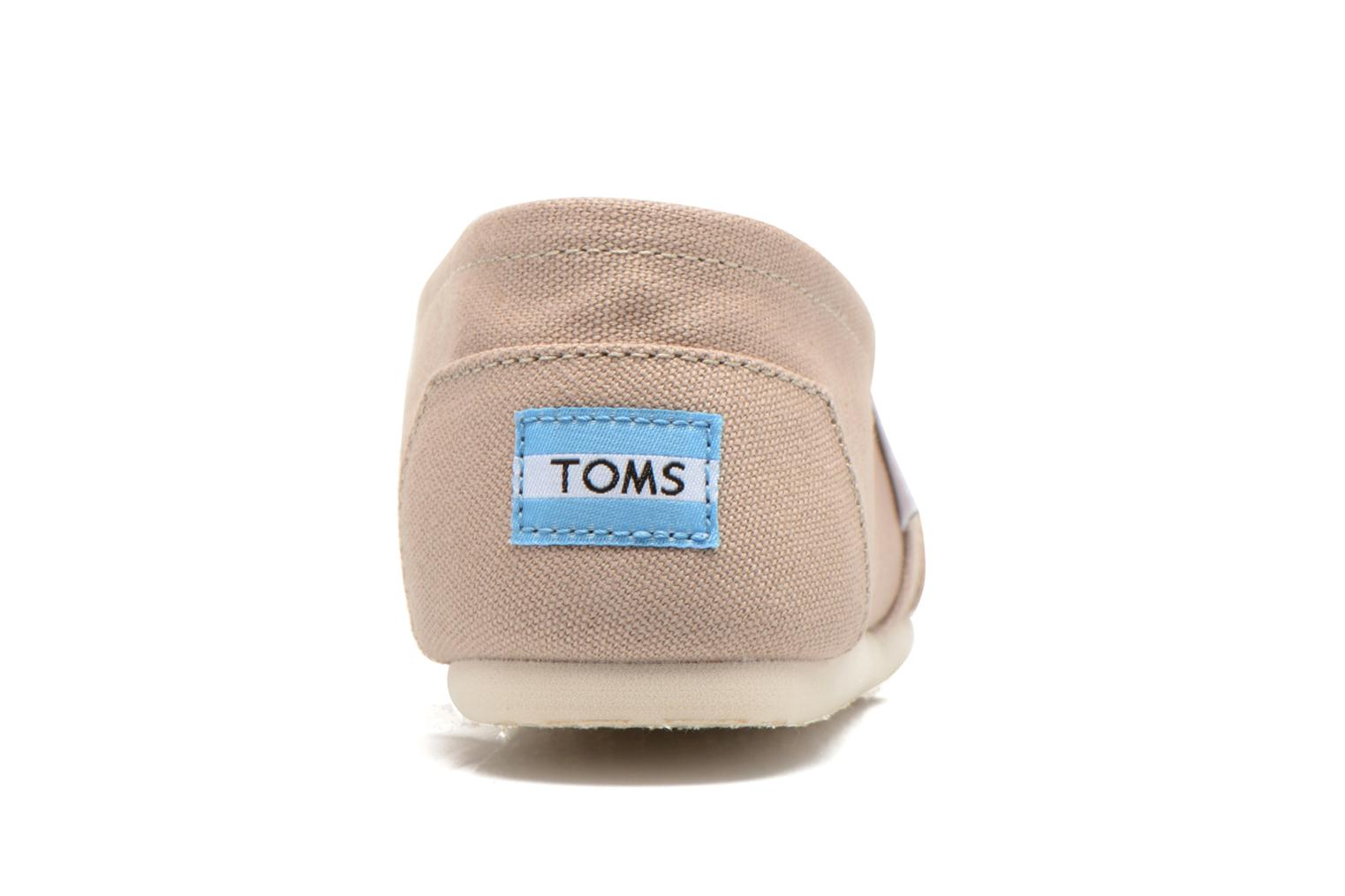 Trainers TOMS Alpargata Beige view from the right