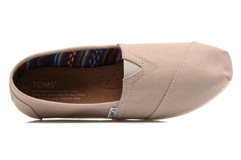 Sneaker TOMS Alpargata beige ansicht von links
