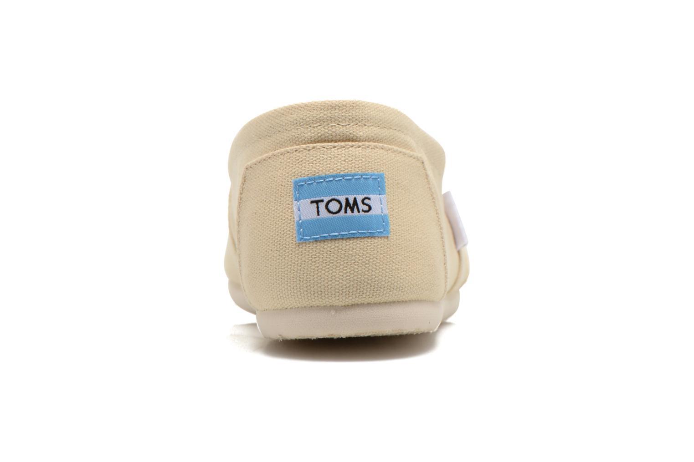 Espadrilles TOMS Classic beige ansicht von rechts