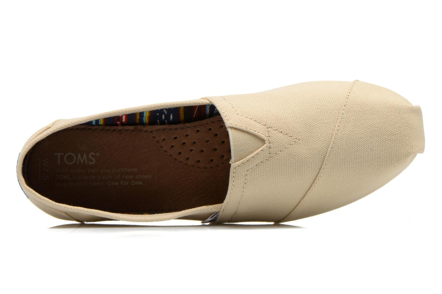 Espadrilles TOMS Classic Beige view from the left