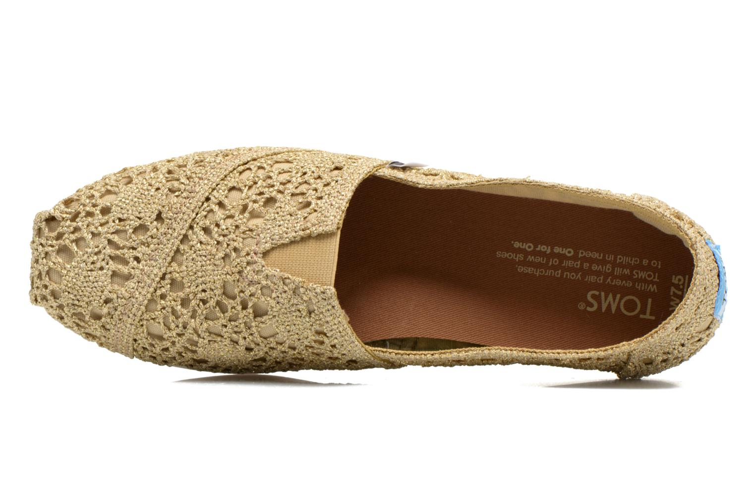 Espadrilles TOMS Seasonal Classics F Bronze and Gold view from the left