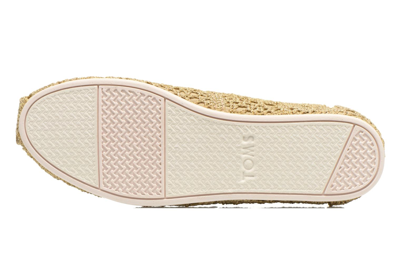 Espadrilles TOMS Seasonal Classics F Bronze and Gold view from above
