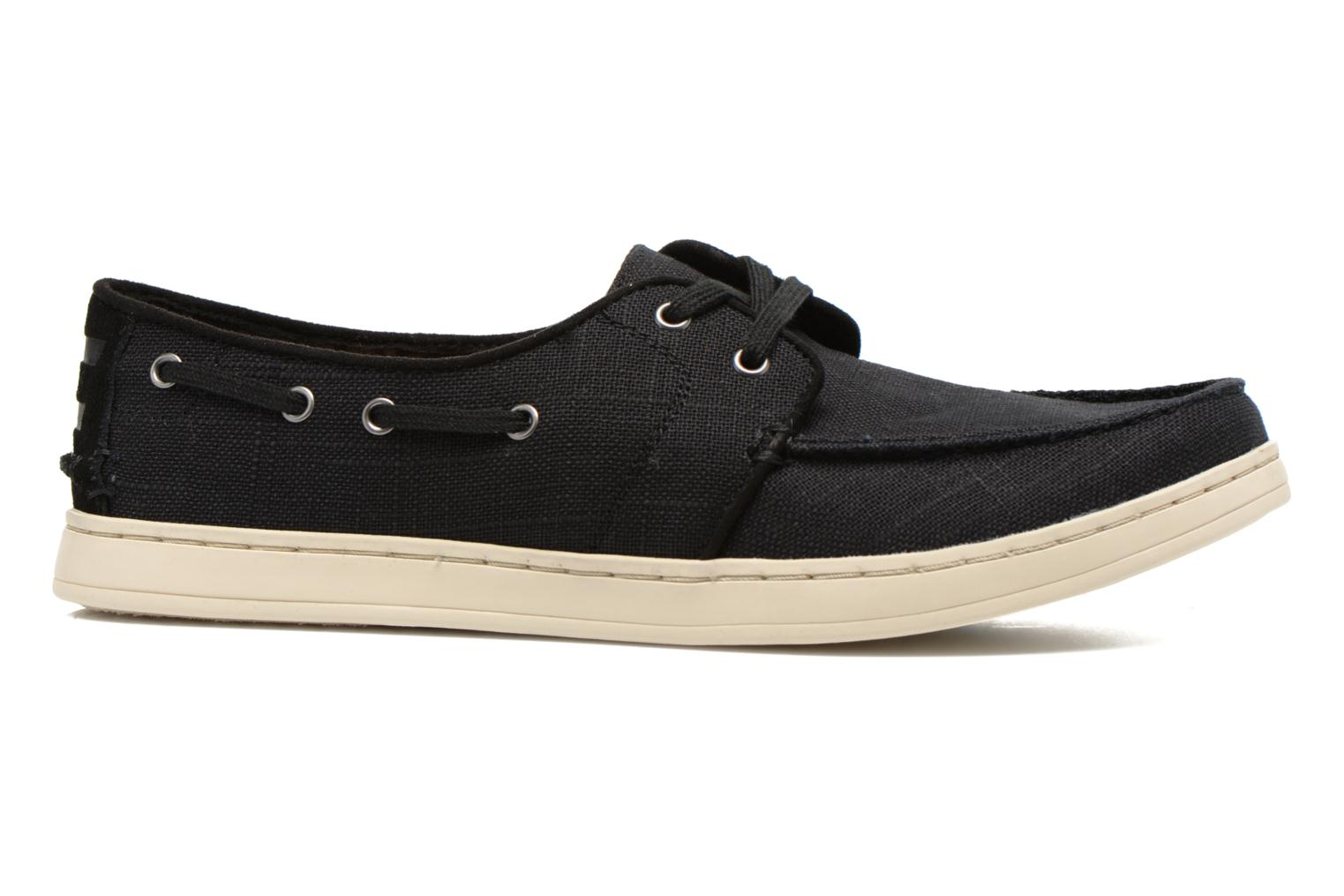 Culver Lace Up Black Washed Linen