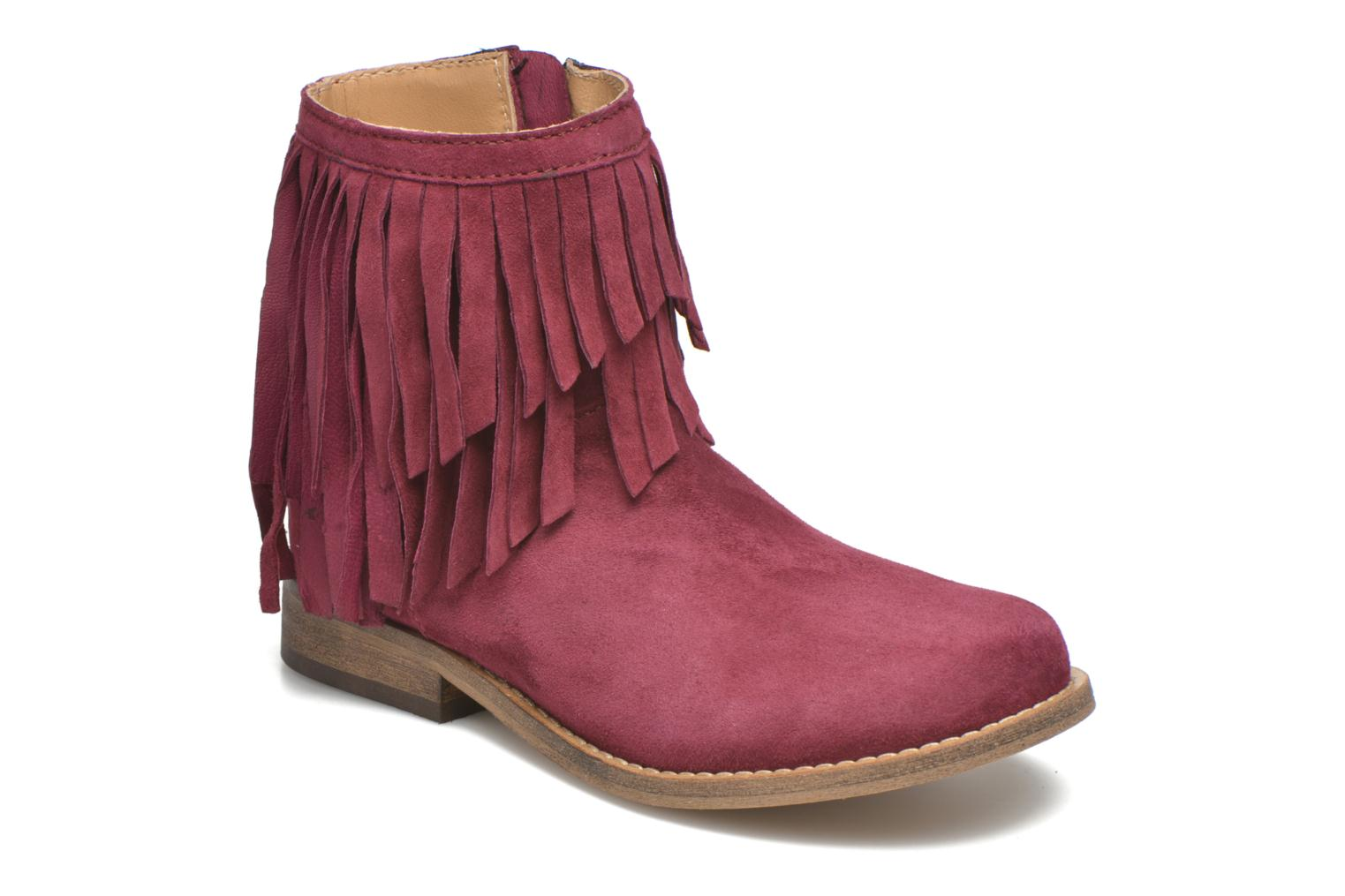 Ankle boots Mellow Yellow Mnarabel Burgundy detailed view/ Pair view