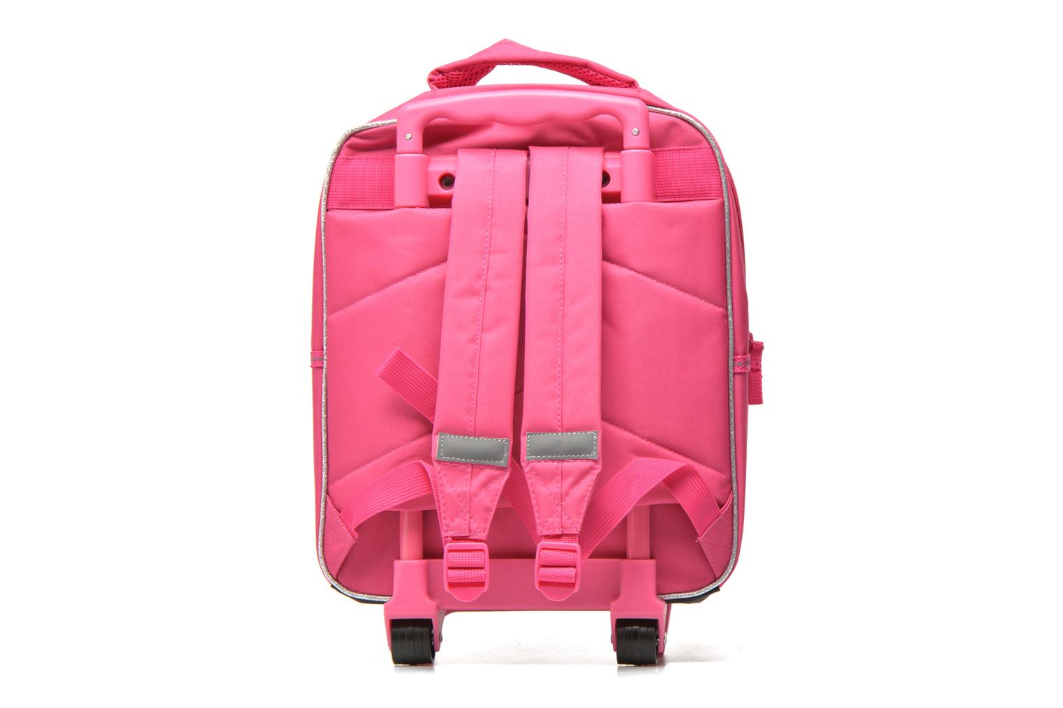 Scolaire Disney PRINCESSES - BACKPACK TROLLEY Rose vue face