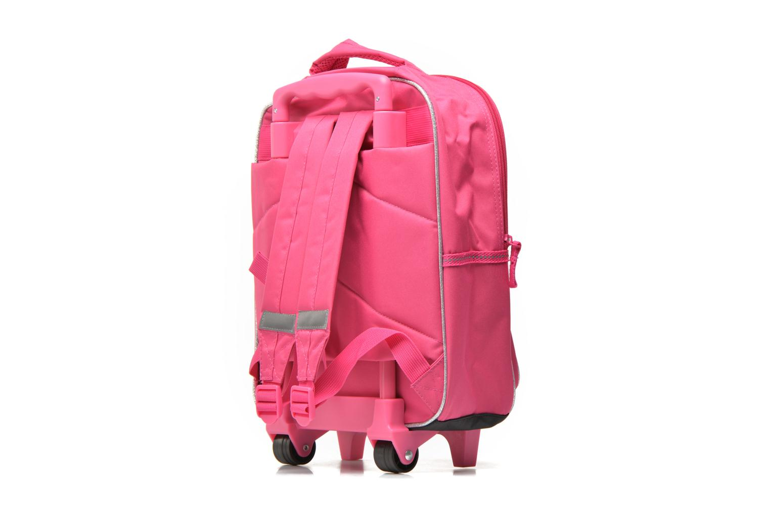 School bags Disney PRINCESSES - BACKPACK TROLLEY Pink view from the right