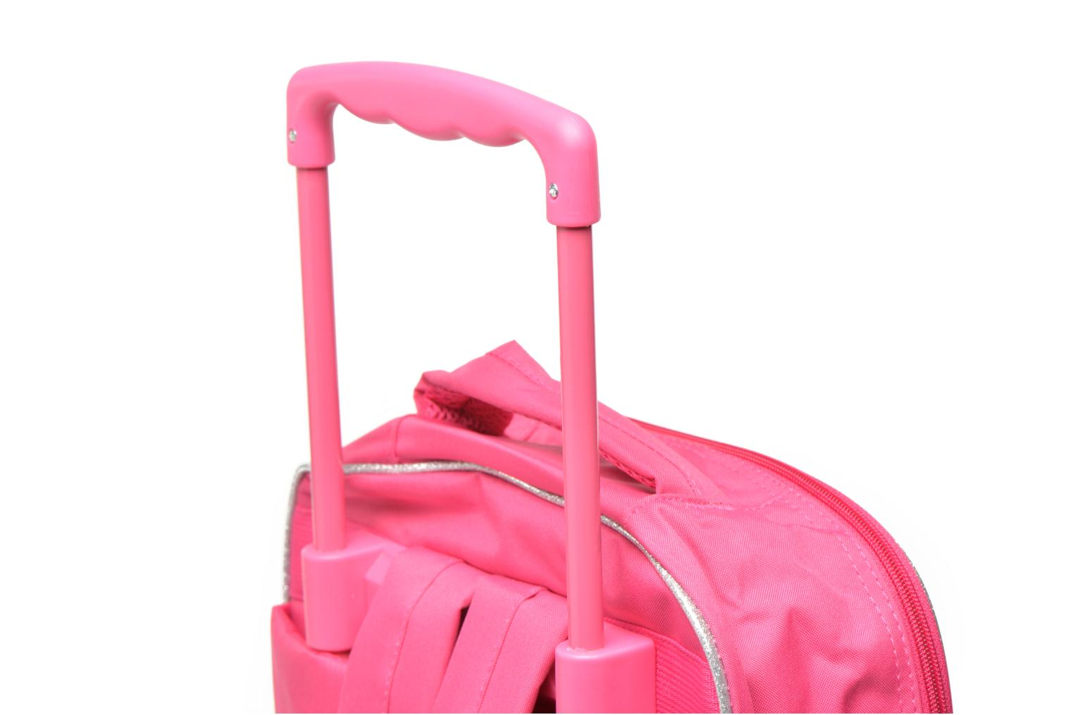 School bags Disney PRINCESSES - BACKPACK TROLLEY Pink view from the left