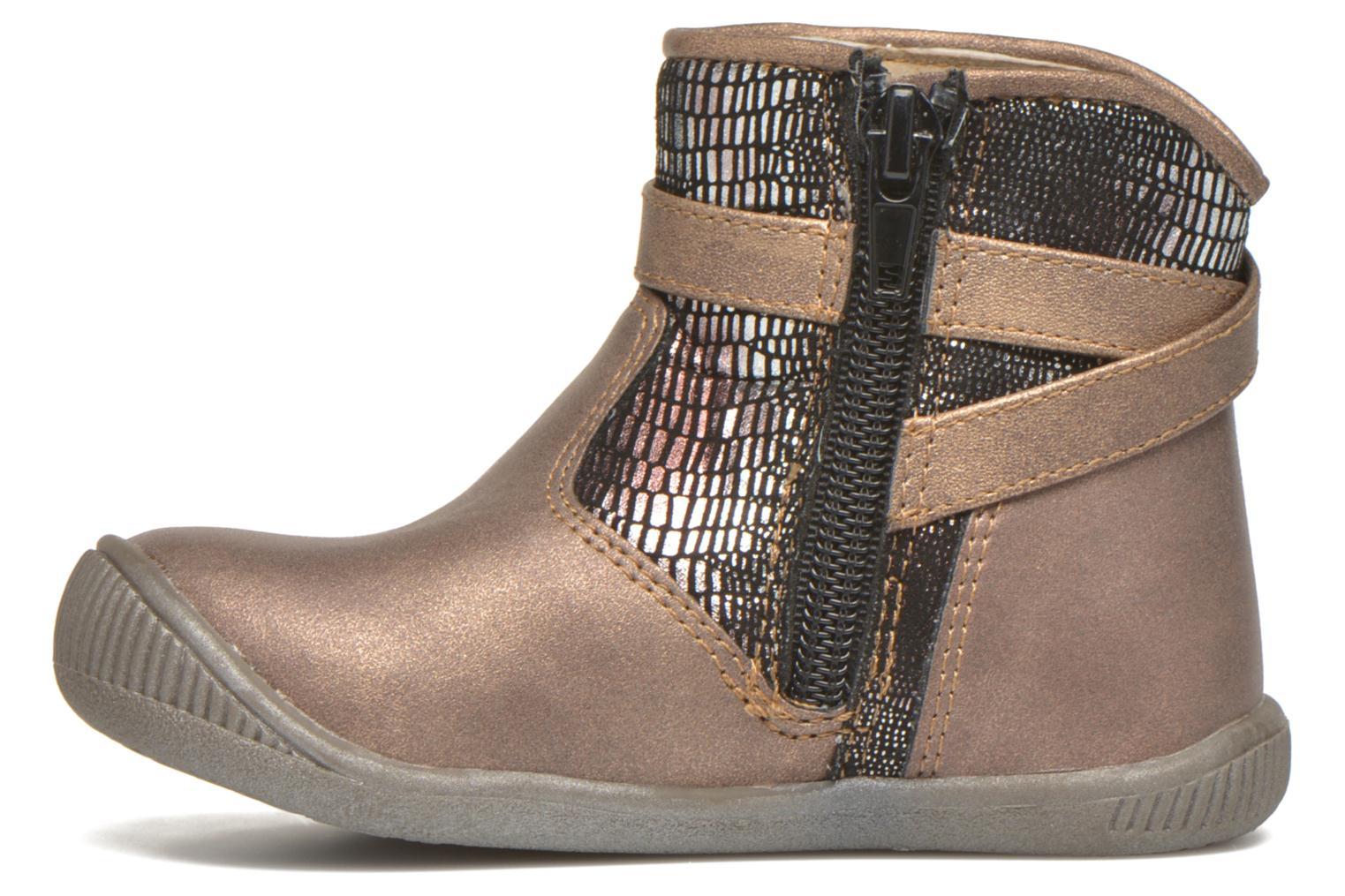 Ankle boots NA! Amaria Bronze and Gold front view