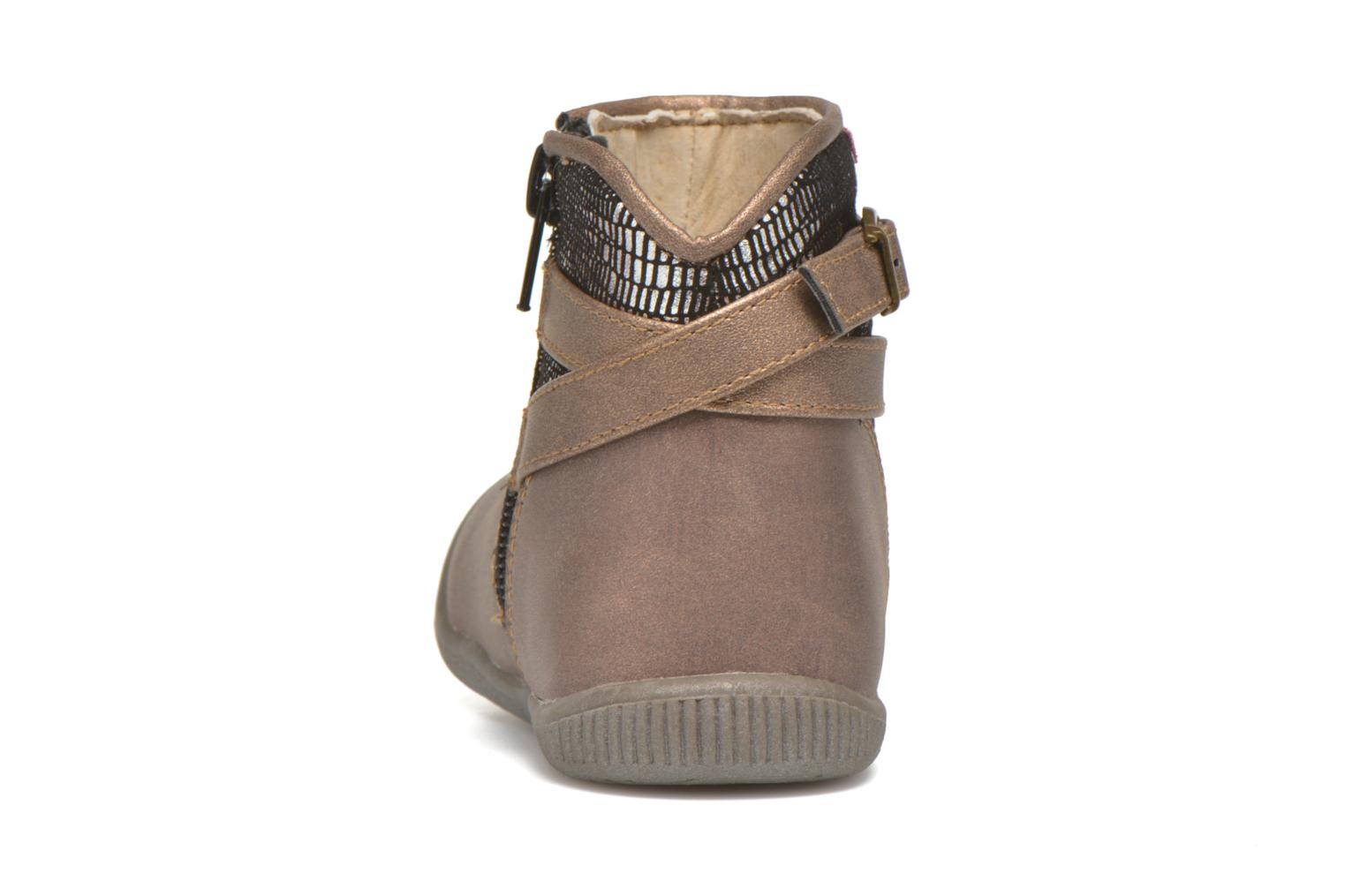 Ankle boots NA! Amaria Bronze and Gold view from the right