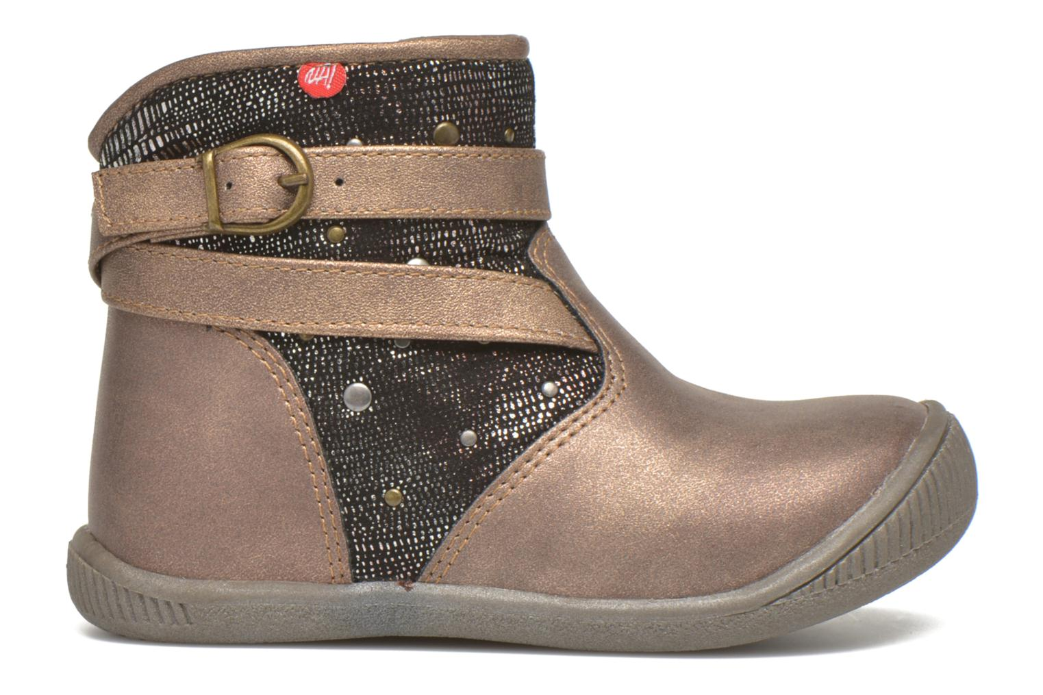 Ankle boots NA! Amaria Bronze and Gold back view