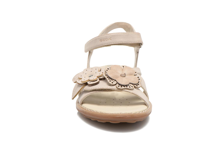 Sandali e scarpe aperte Geox JR Sandal Milk J52D1F Beige modello indossato