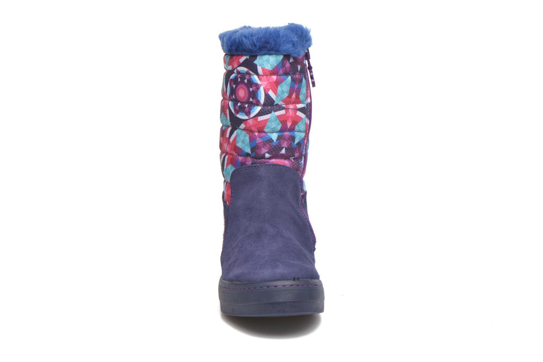 Bottes Desigual Winter Violet vue portées chaussures