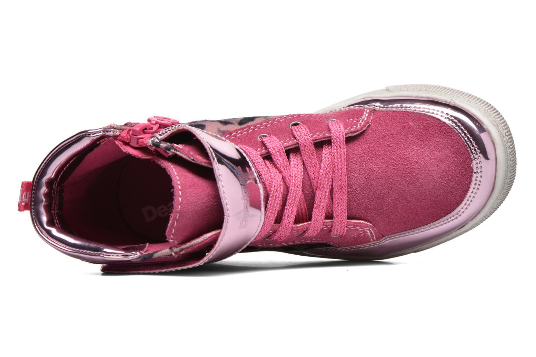 Sneaker Desigual Rask rosa ansicht von links