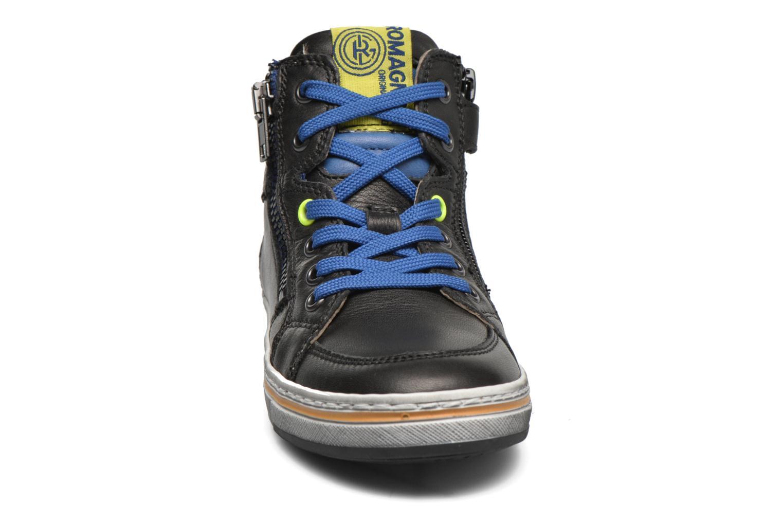 Sneaker Romagnoli Falco schwarz schuhe getragen