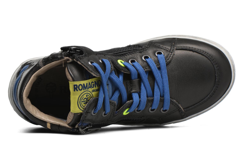 Sneaker Romagnoli Falco schwarz ansicht von links