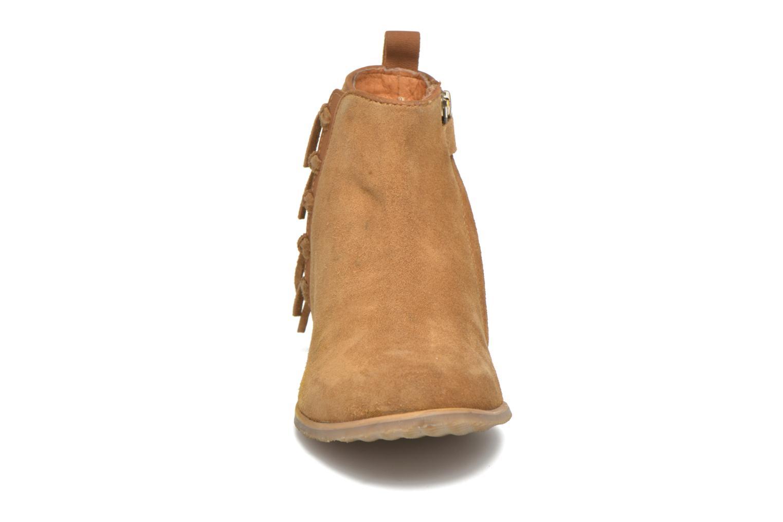 Stiefeletten & Boots Shwik Odeon Fringe beige schuhe getragen