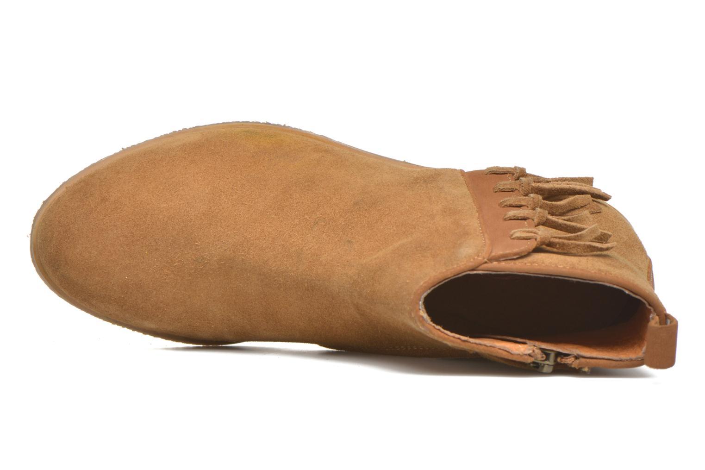 Stiefeletten & Boots Shwik Odeon Fringe beige ansicht von links