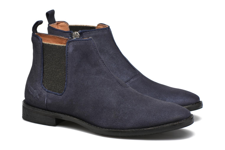 Ankle boots Shwik Mia Brogue Zip Blue 3/4 view