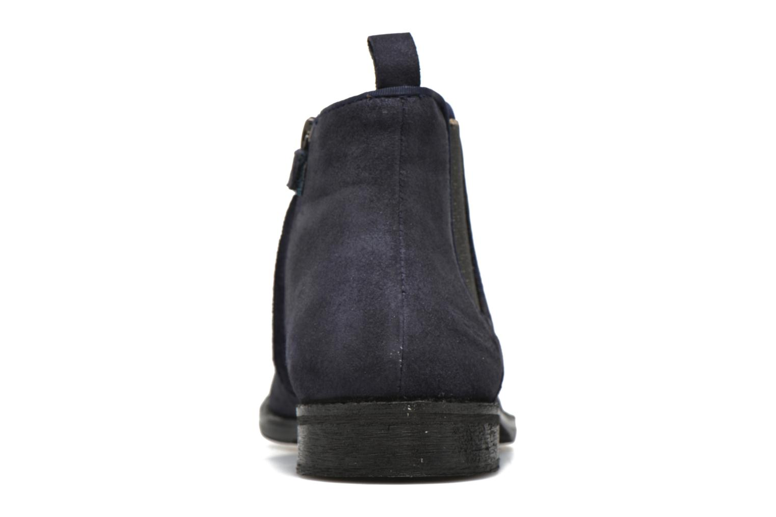 Ankle boots Shwik Mia Brogue Zip Blue view from the right