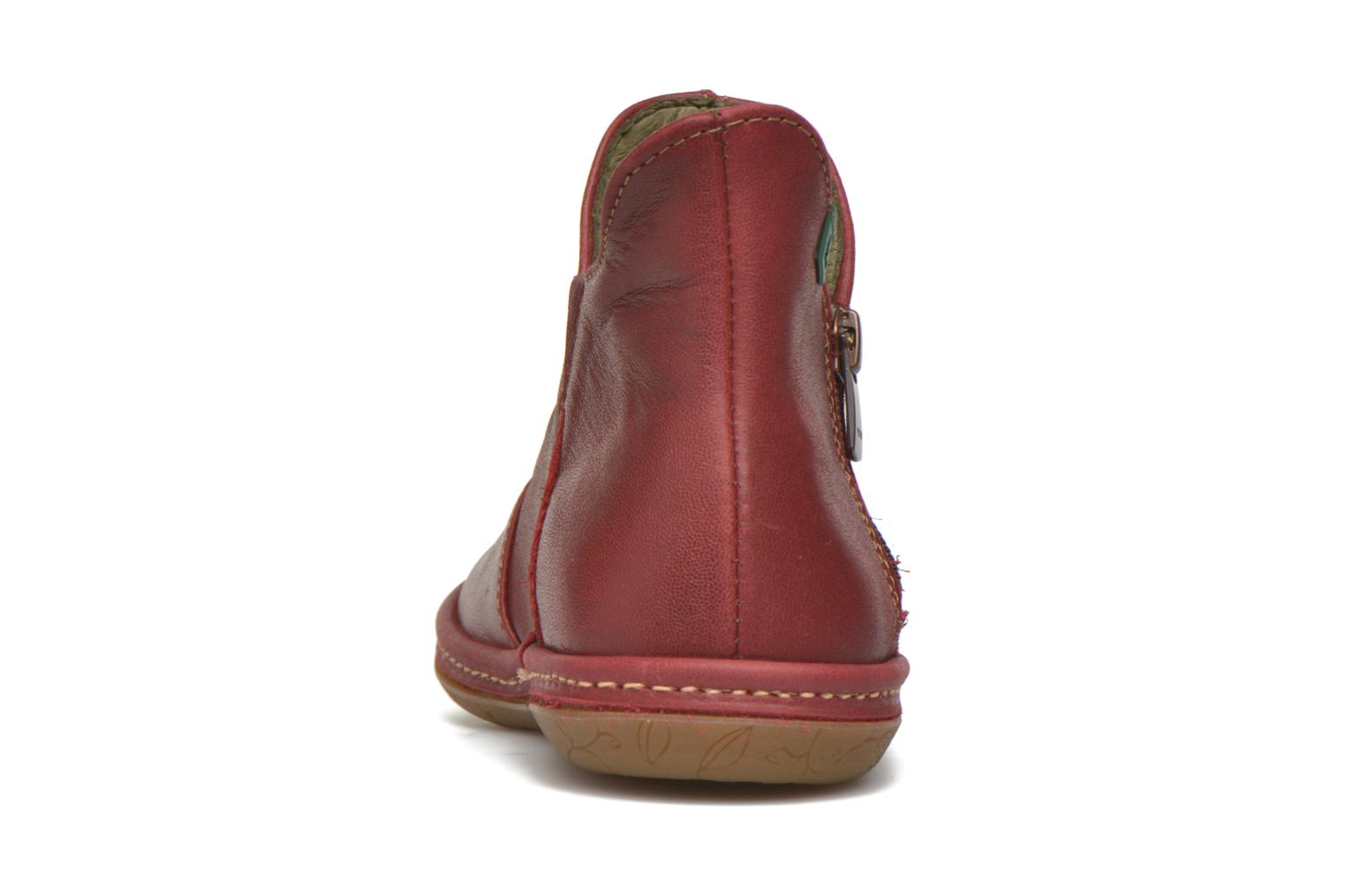 Ankle boots El Naturalista E827 Nayade Red view from the right