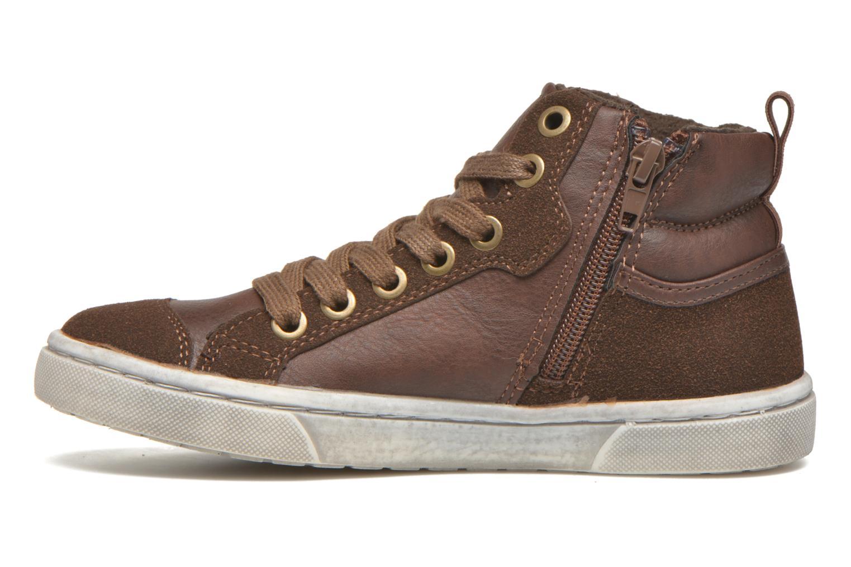 Baskets I Love Shoes xEPHRE Marron vue face