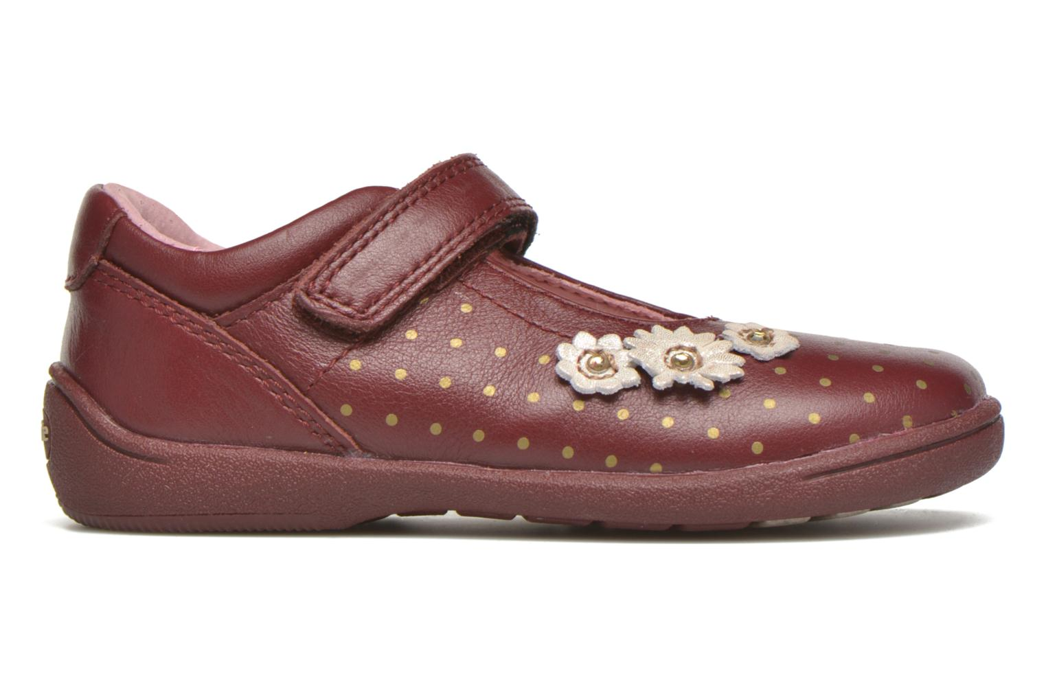 Daisy Wine/Gold leather