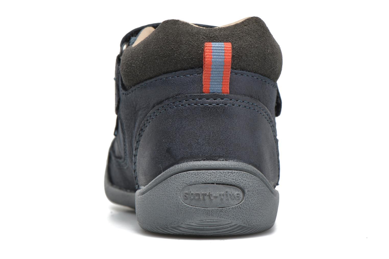 Chaussures à scratch Start Rite Max Gris vue droite