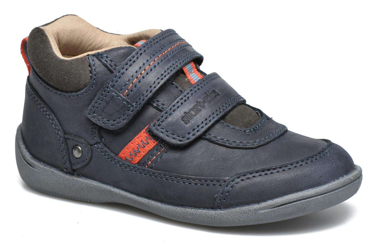 Max Navy/Grey leather