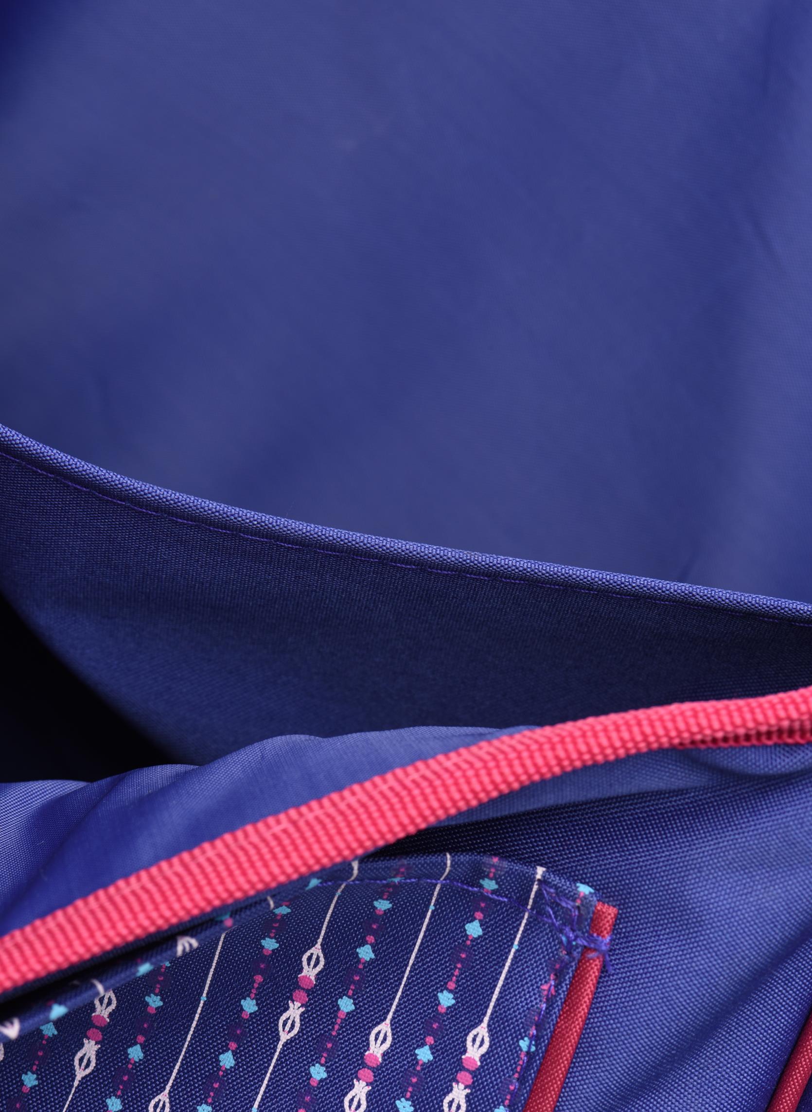 School bags Disney Cartable 38cm Trolley Reine des neiges Purple back view