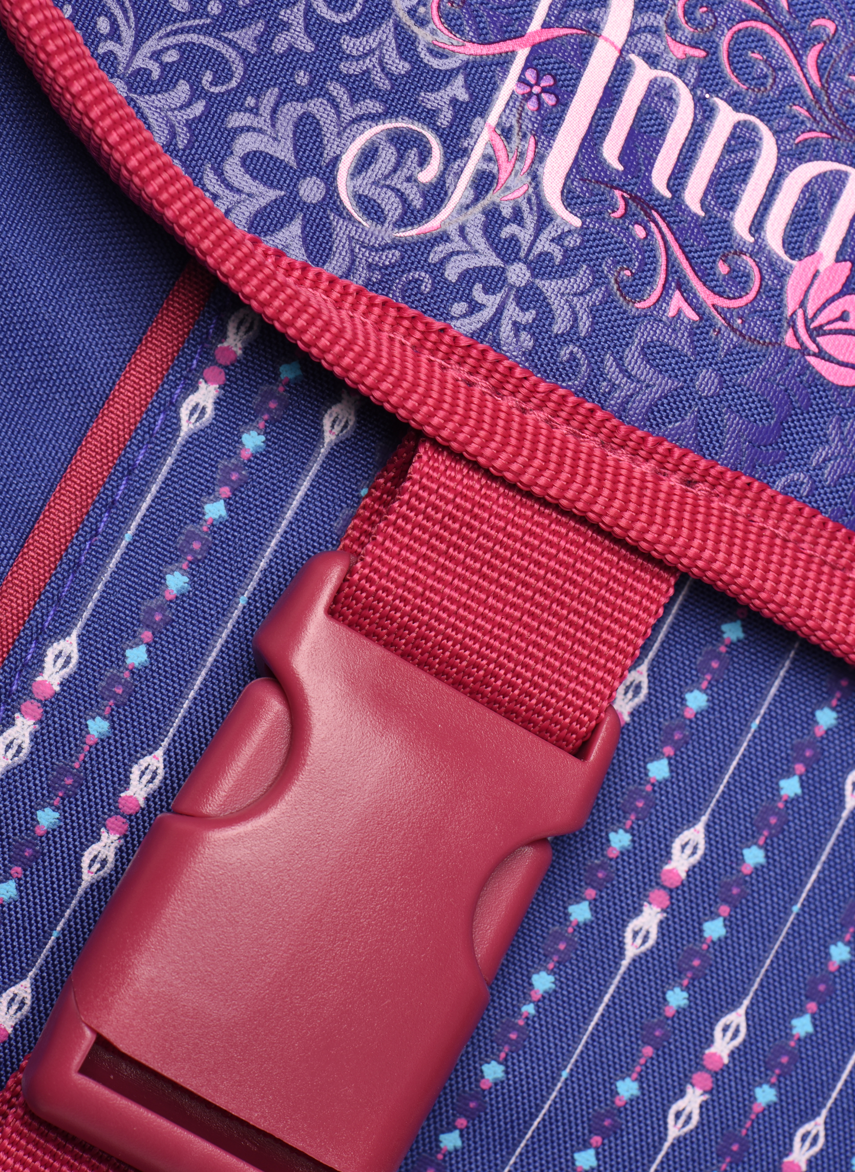 School bags Disney Cartable 38cm Trolley Reine des neiges Purple view from the left