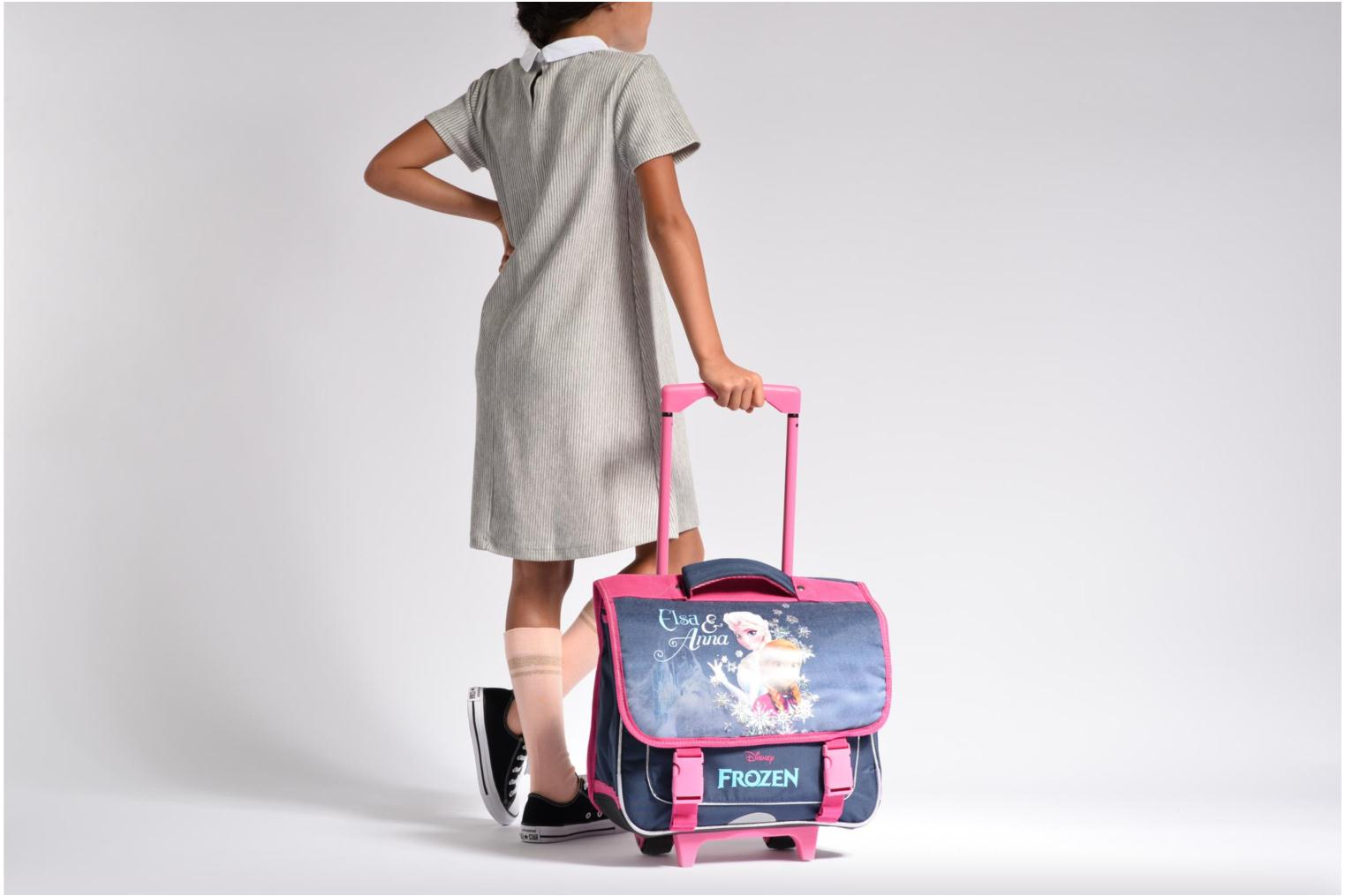 School bags Disney Cartable 38cm Trolley Reine des neiges Purple view from above