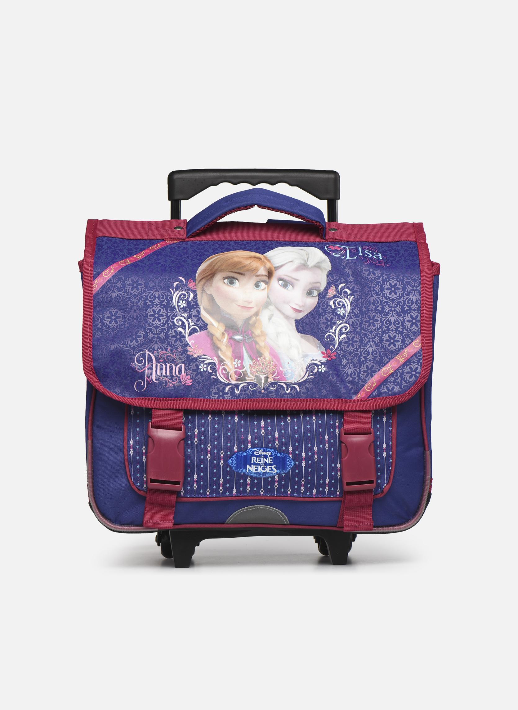 Per la scuola Disney Cartable 38cm Trolley Reine des neiges Viola vedi dettaglio/paio