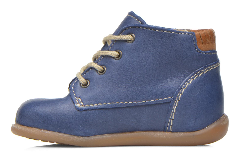 Chaussures à lacets Babybotte Fanfaron Bleu vue face